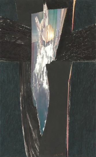 Pour un Ange crucifié 1989 collage 41,5 x 25 cm PP