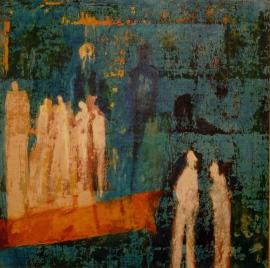 grandes traces en miroir B prime, 80 x 80