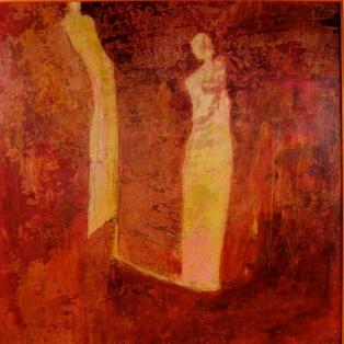 grandes traces en miroir C, 80 x 80